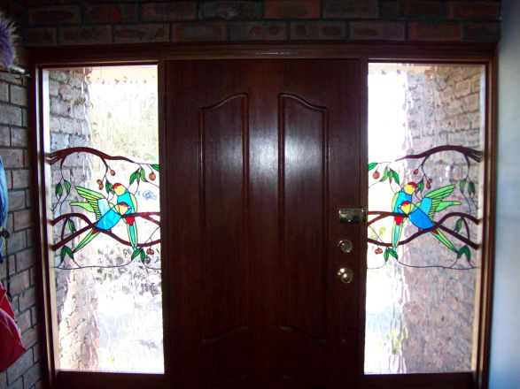 Simulated Stained Glass Overlay Kalamunda Glass Perth